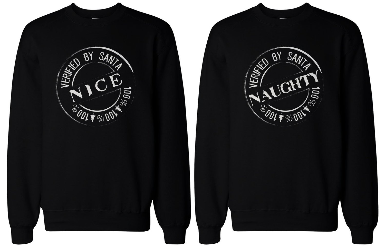 amazoncom christmas gift for bff naughty and nice sweatshirts for best friends clothing - Amazon Christmas Gift