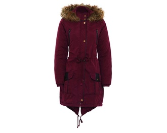 jacket burgundy oxblood winter outfits faux fur jacket zalando parka faux fur coat fur coat coat winter coat