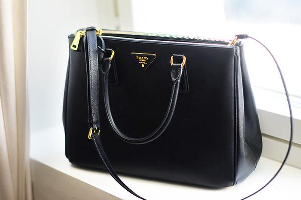 bag prada prada bag black bag black elegant office outfits black and gold black bag with gold details