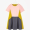 Pleated colour-block dress - lemon - archive - cos ie