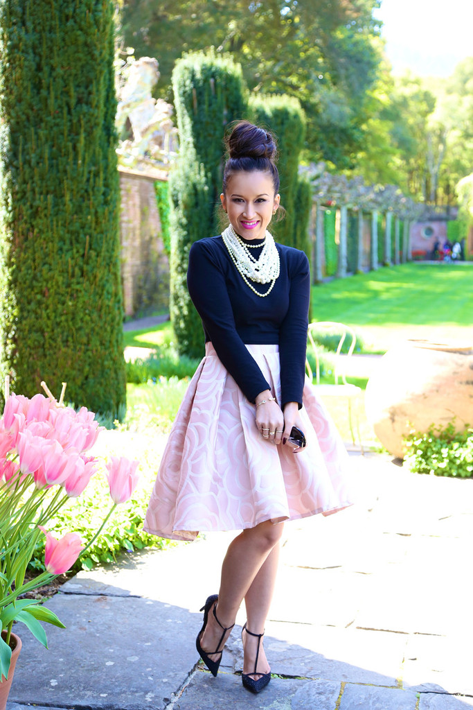 * Custom: High Low Rosette Skirt in Pink - KTRcollection