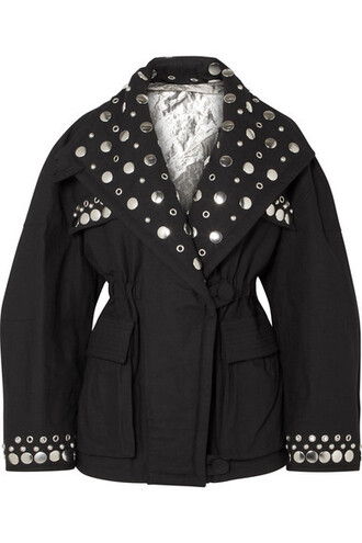 jacket embellished cotton black