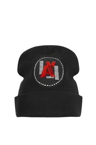sporty beanie black hat