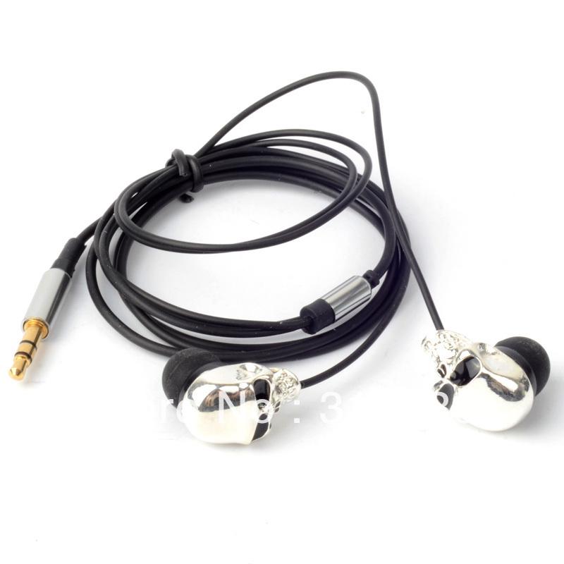 Venda quente fresca do crânio Heads 3,5 milímetros Porto de Metal Headset Fone de ouvido MP3 para iPads iPods D0769 em Fones de ouvido de Eletrônicos no AliExpress.com