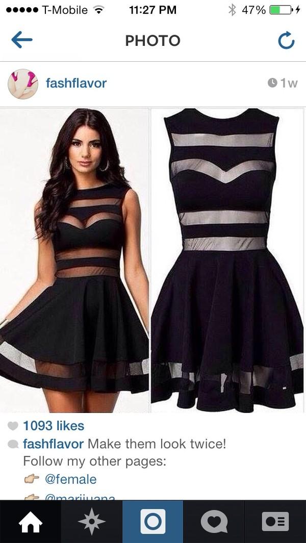 dress black dress mesh