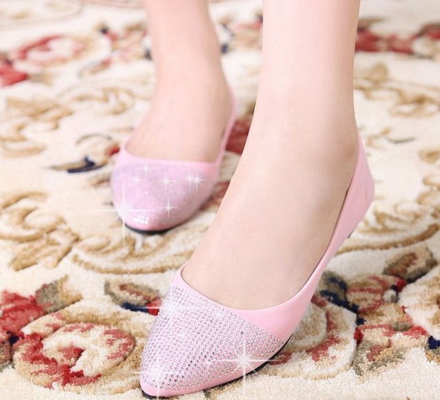 Aliexpress.com : Buy Free shipping Ladies Glitter flats,women ballet shoes 2014,fashion spring and autumn shoes,ballerinas,Ladies sapatos   N09 from Reliable shoes evening suppliers on Fashion Square