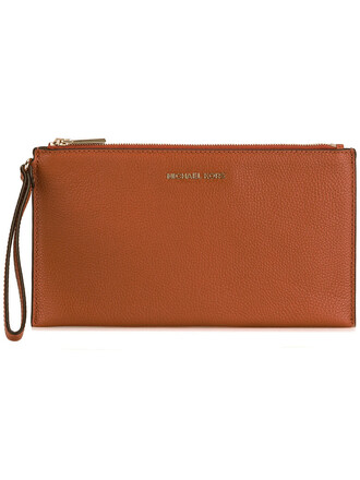 women clutch leather yellow orange bag