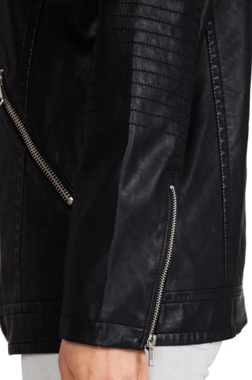 BB Dakota Atleg Vegan Leather Moto Jacket in Black   REVOLVE