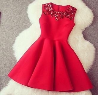 dress red dress red skater skirt christmas sweater holiday dress holiday season christmas glitter dress sparkly dress red dressred dress
