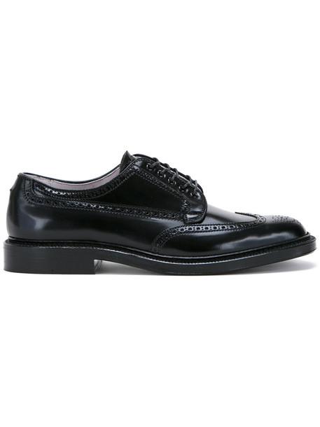 Alden classic leather black shoes