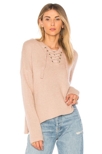 Endless Rose sweater lace taupe