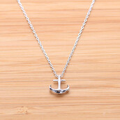 jewels,anchor,necklace,silver,jewelry,present,gift ideas,anchor necklace