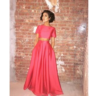 dress jhene aiko two-piece coral