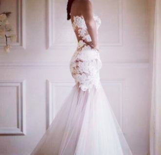 dress wedding dress lace wedding dress wedding gown wedding dress with flowers mermaid wedding dress