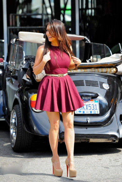 dress red spring kim kardashian