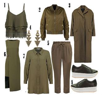 samieze blogger army green jacket army green khaki pants platform sneakers khaki