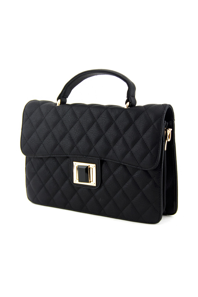NEL CLASSIC QUILTED BAG - Black | Haute & Rebellious