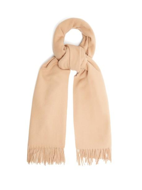 Acne Studios scarf wool camel