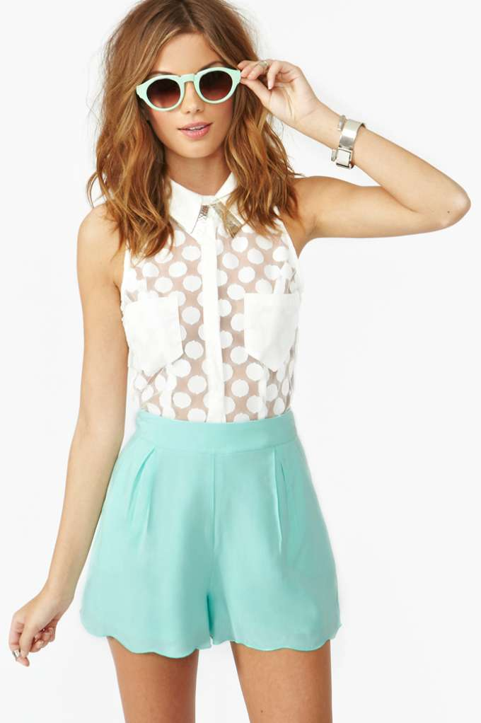 Veracruz Shorts - Mint | Shop Clothes at Nasty Gal