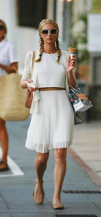 skirt top blouse paris hilton summer outfits