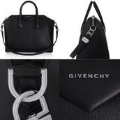 bag,givenchy black bag silver classy