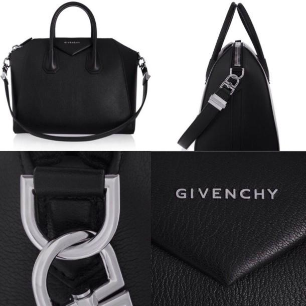 bag givenchy black bag silver classy