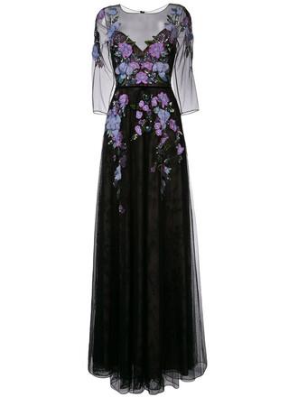 gown women floral black dress