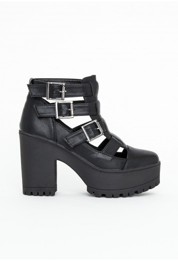 Rositta Buckle Detail Ankle Boots - Footwear - Missguided