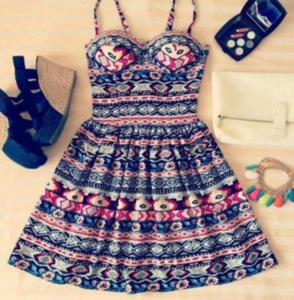 dress tribal pattern tribalprintdress cute dress