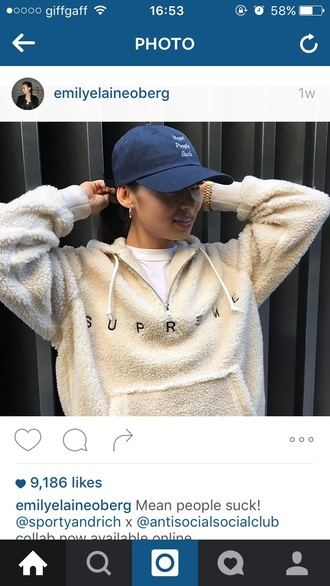 sweater supreme sherpa fleece hoodie