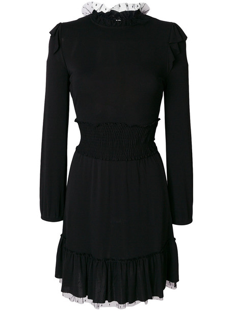 RED VALENTINO dress ruffle women black