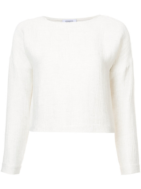NOMIA blouse pleated women nude top