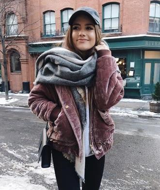 jacket velvet lilac coat
