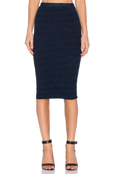 Monrow skirt pencil skirt navy