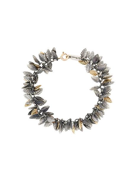 women gold silver grey leaves metallic jewels
