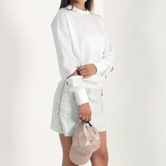 skirt maniere de voir snake embossed mini skirt
