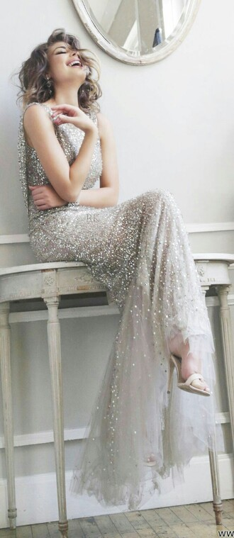 sequin dress ramona keveza dress wedding dress gown ball gown dress bridesmaid great gatsby dress sparkly dress sequin shirt long dress grey sparkle glamour prom dress prom gown