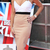 Women Celebrity Amanda Holden Inspired Dress Nude 6-14