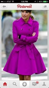 coat,trench coat,purple coat,purple trench coat