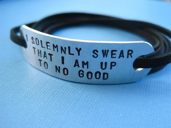 Harry Potter inspired Jewelry  I solemnly swear by TesoroJewelry