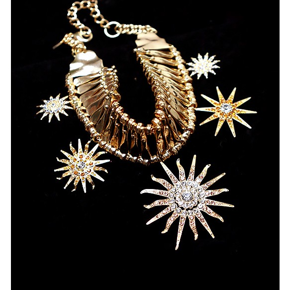 Sun Flower Statement Necklace