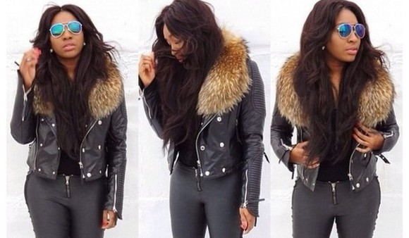 jacket leather jacket leather black perfecto jacket, fur fur, leather, black, parka, coat, faux, green