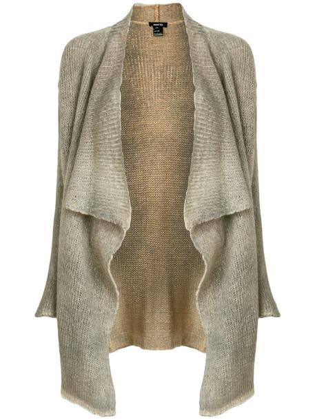 AVANT TOI cardigan cardigan open women draped silk grey sweater