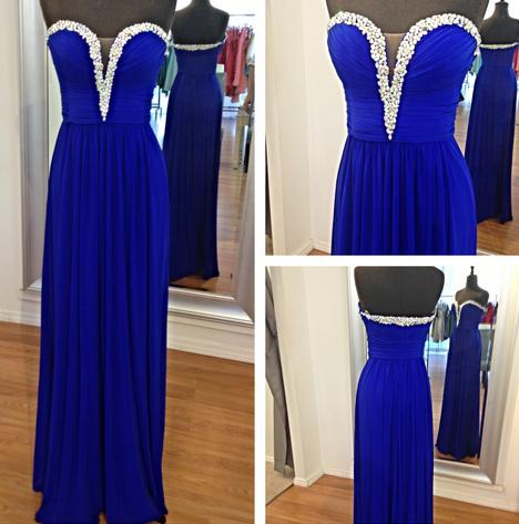 Sweetheart Empire Floor-length Long Prom Dress - Juicy Wardrobe