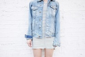 fire on the head,t-shirt,jacket,shoes,blogger,stripes,striped dress,hipster,summer outfits,denim jacket,dress