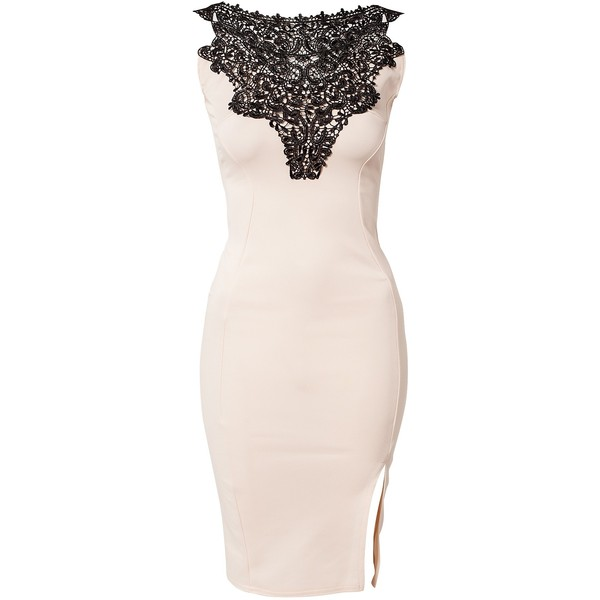 Club L Crochet Det Bodycon Dress - Polyvore
