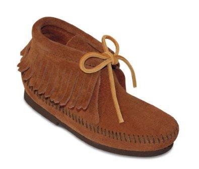Amazon.com: minnetonka childrens fringe hardsole boot: shoes