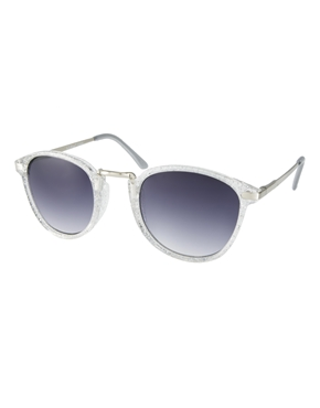 AJ Morgan | AJ Morgan Castro Glittler Round Sunglasses at ASOS