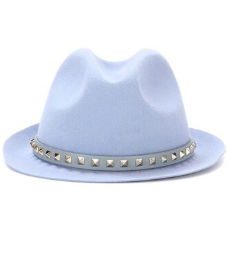 fedora blue hat