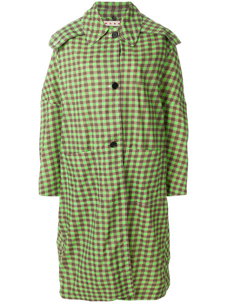 MARNI coat trench coat women cotton green